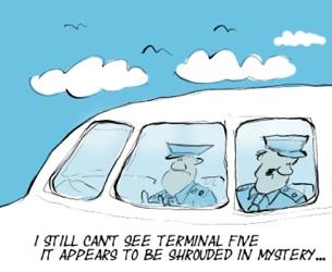 Cartoon by Neil - Terminal 5